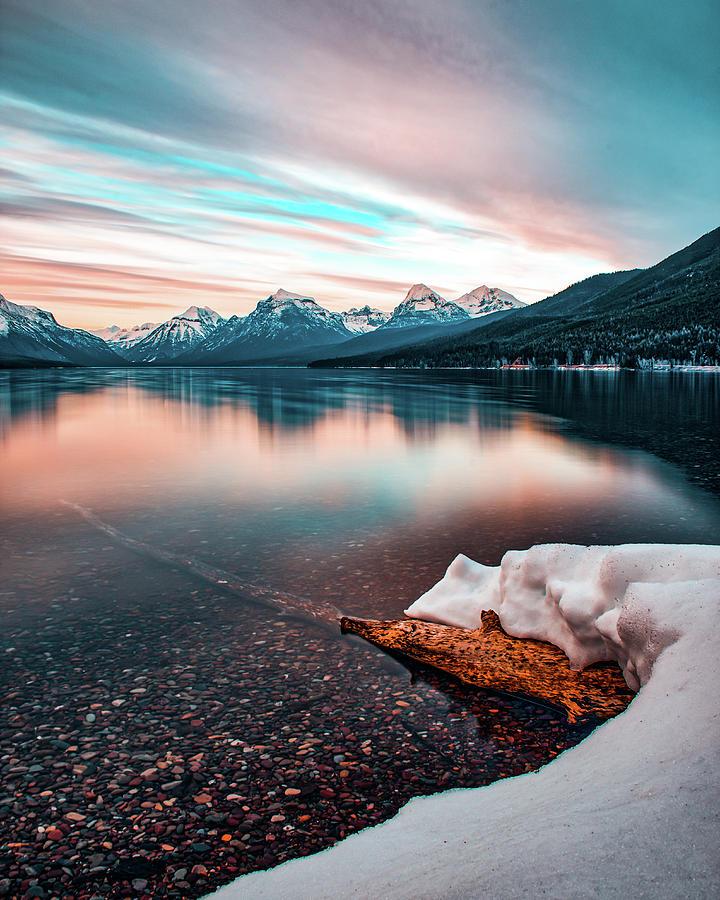 Lake McDonald April Sunset 2017 HDR by Jedediah Hohf