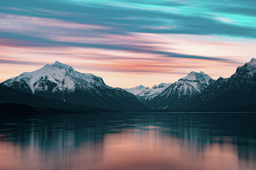 Lake McDonald April Sunset 2017 by Jedediah Hohf