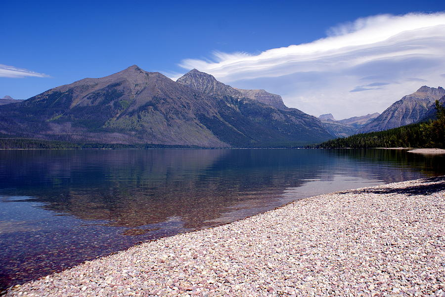 Glacier  National Park Photograph - Lake Mcdonald Reflection Glacier National Park 4 by Marty Koch