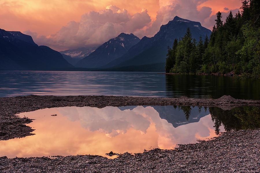 Glacier National Park Photograph - Lake Mcdonald Sunset by Mark Kiver