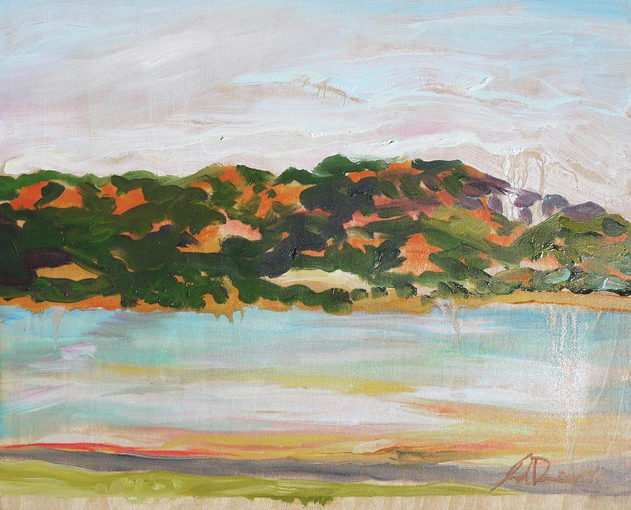 Plein Air Painting - Lake Mendocino CA by Joseph Demaree