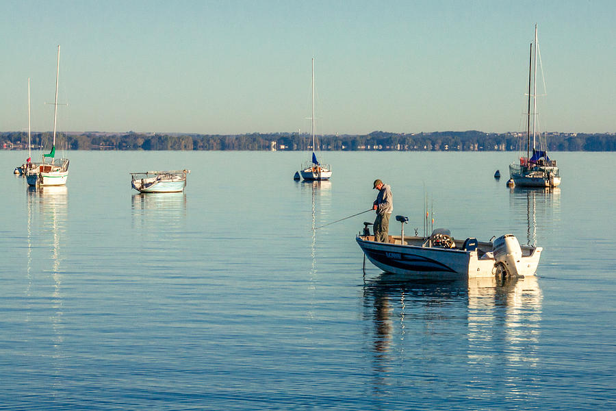 Fishing Photograph - Lake Mendota Fishing by Todd Klassy