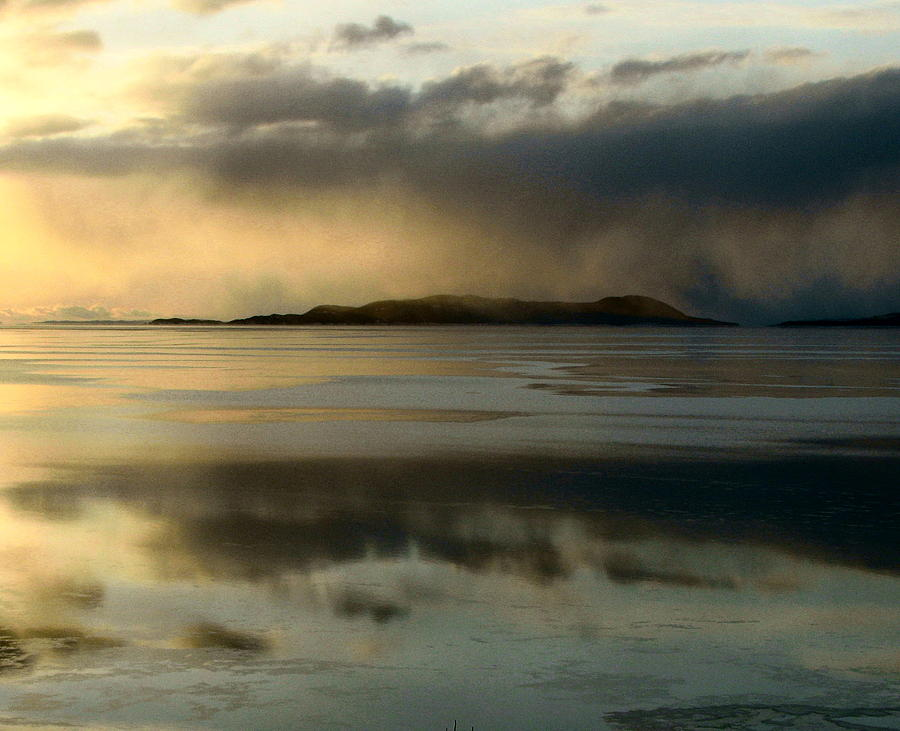 Lake Superior Photograph - Lake Mist Over Pic Island by Laura Wergin Comeau