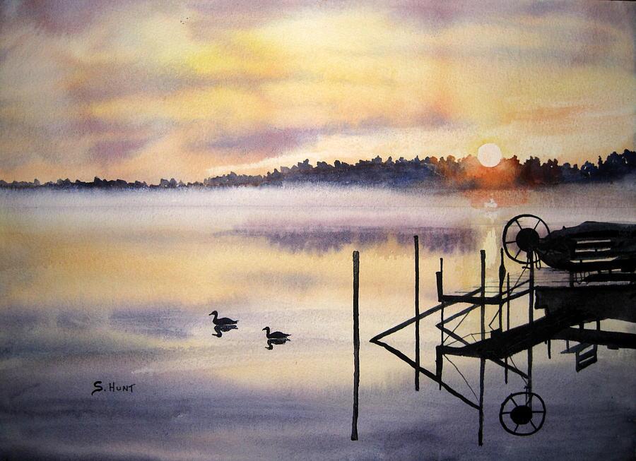 Lake Painting - Lake Mist by Shirley Braithwaite Hunt