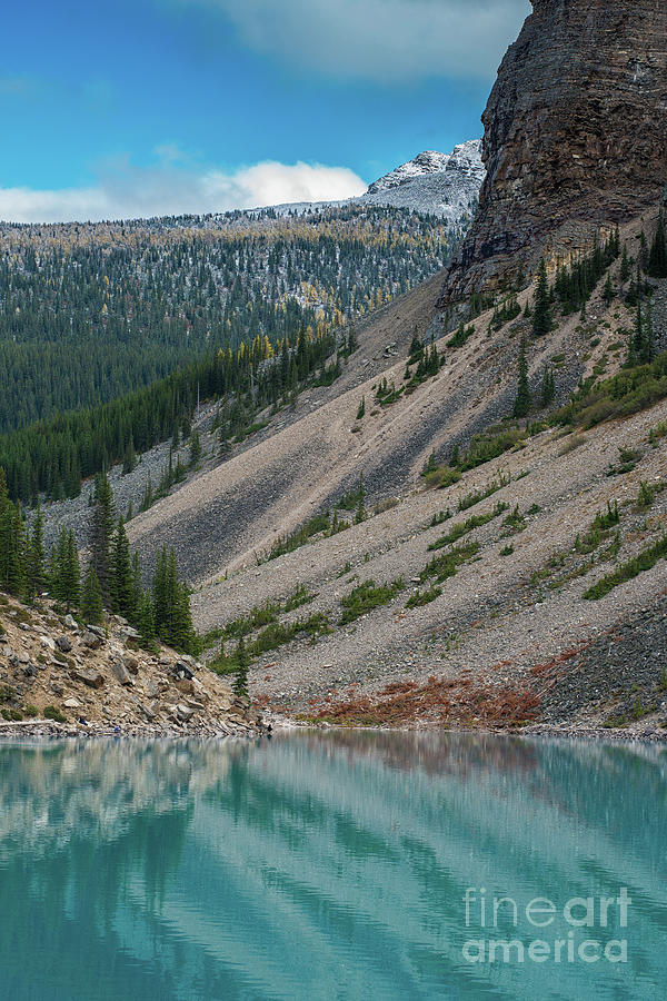 Alpine Lakes Photograph - Lake Moraine Angles by Mike Reid
