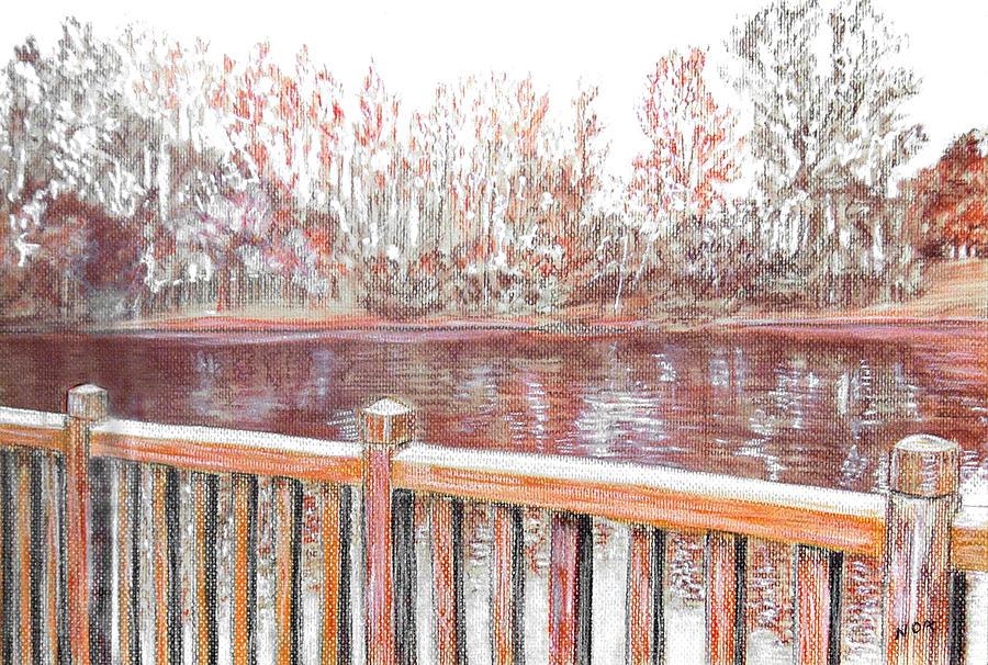 Landscape Pastel - Lake Of Cergy-neuville by Aymeric NOA