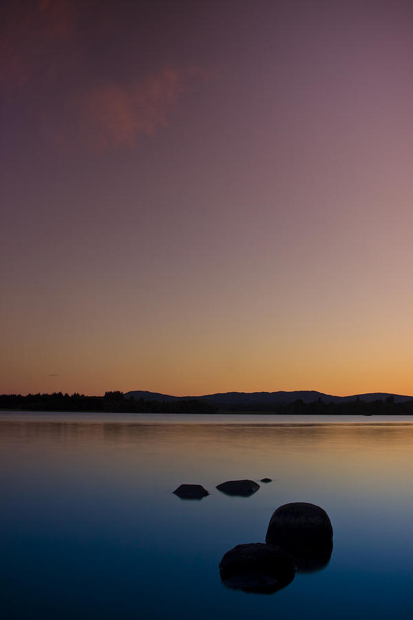 Britain Photograph - Lake Of Menteith By Sunset by Gabor Pozsgai