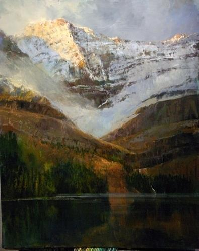 Lake Ohara  Where Sargent Painted Painting by Gil Dellinger