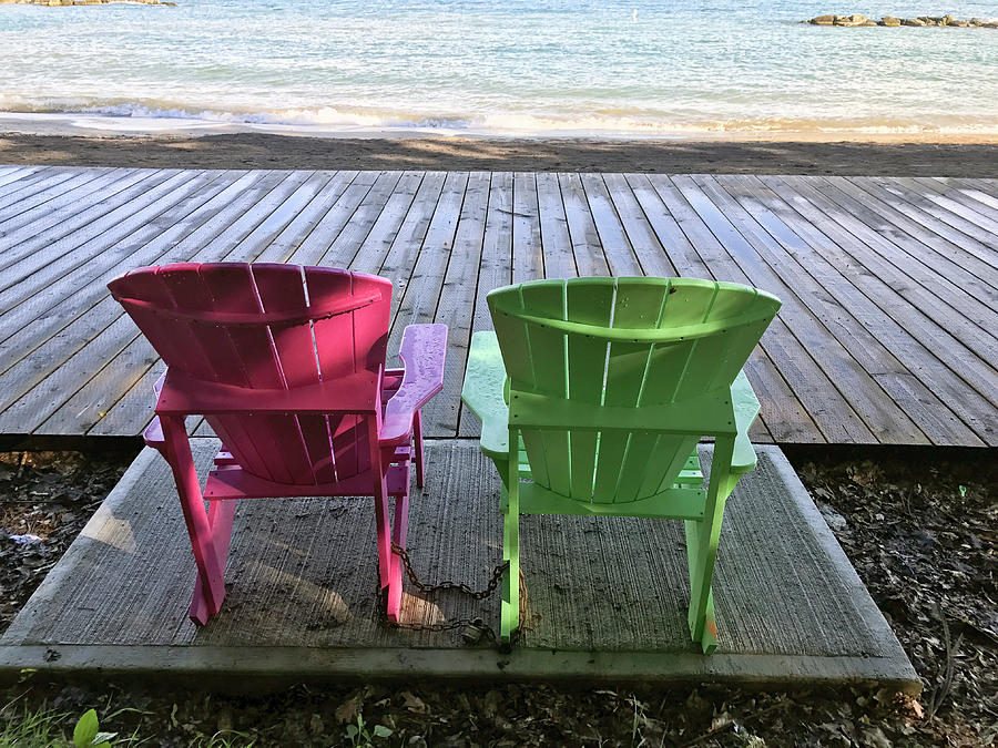 Lake Ontario Beach Chairs by Matthew Bamberg