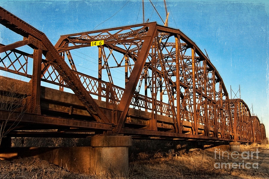 Bridge Photograph - Lake Overholser Bridge by Lana Trussell