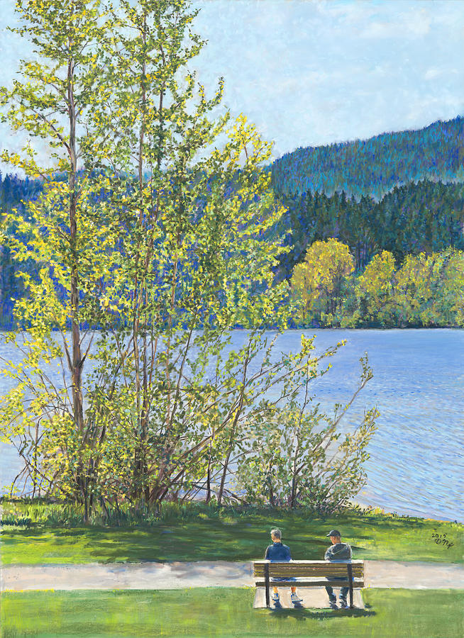 Lake Padden-Memorial Bench of Art and Stacia Christopher by Nick Payne
