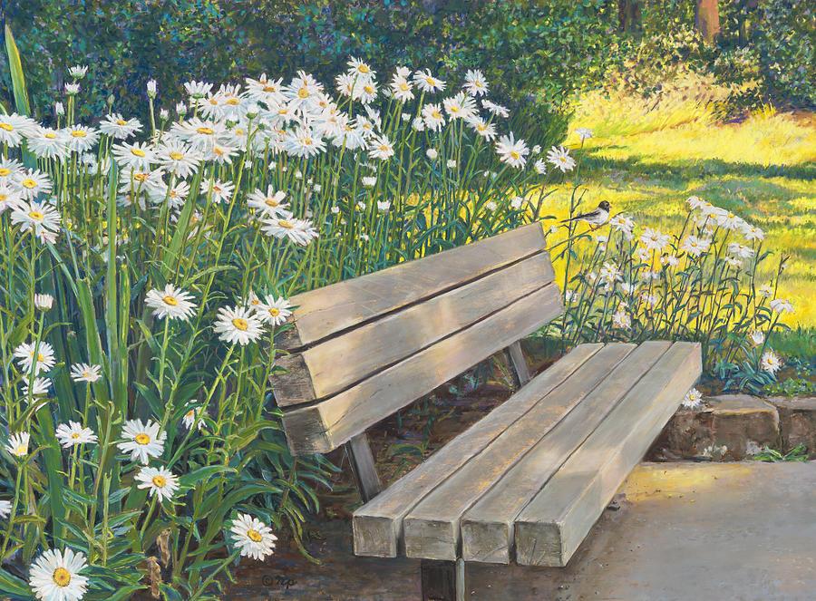 Lake Padden Series - Memorial Bench of Judy Winter by Nick Payne