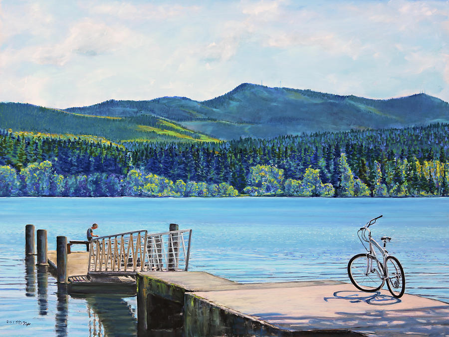 Lake Padden-View from the Memorial Bench of Mildred Hottle and Jeffery Myers by Nick Payne