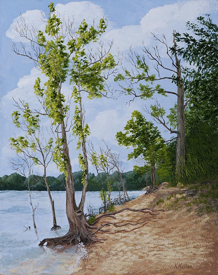 Missouri Painting - Lake Path by Kathleen Keller