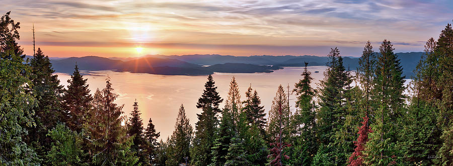 Nature Photograph - Lake Pend Oreille North Idaho by Leland D Howard
