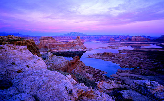 Landscape Photograph - Lake Powell After Sunset by Tom Narwid