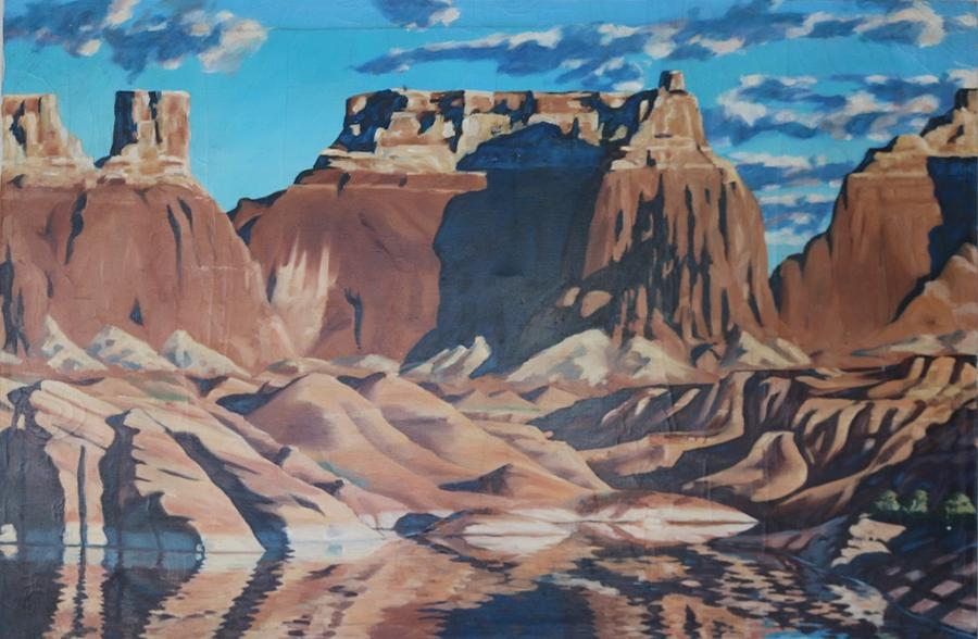 Oil Painting - Lake Powell 2 by Allen Kerns