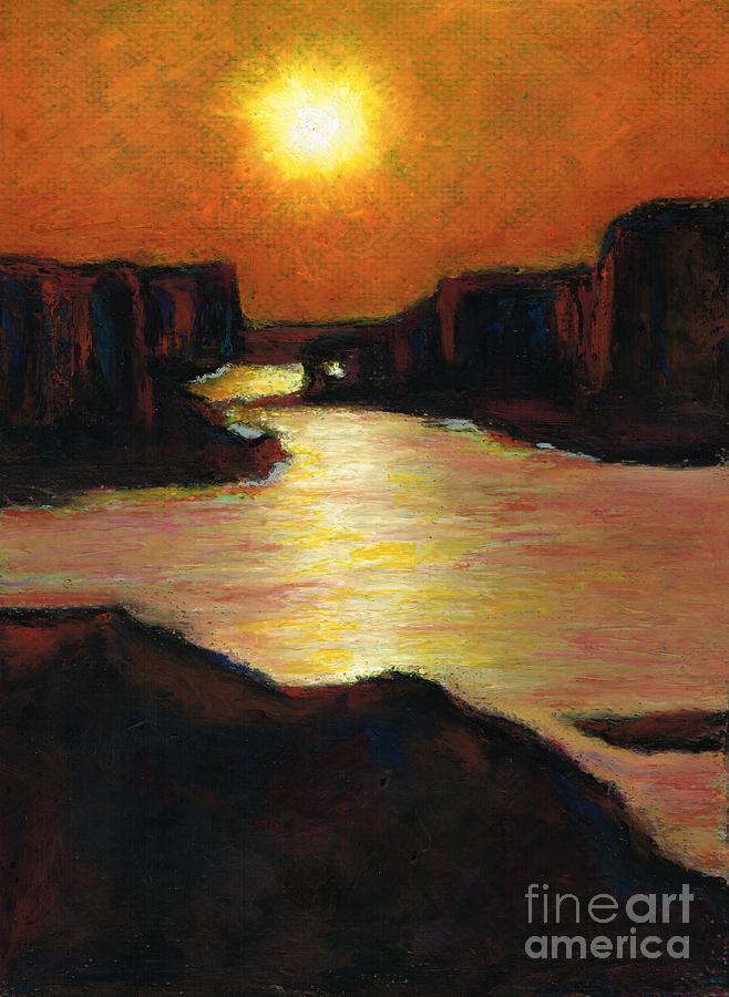 Lake Powell Painting - Lake Powell At Sunset by Frances Marino