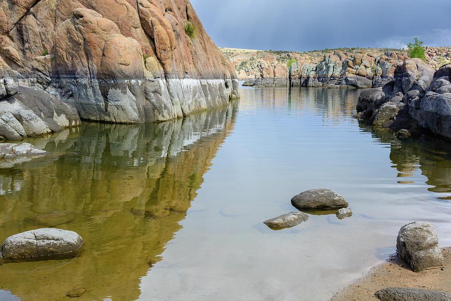 Lake Reflections At Granite Dells Photograph