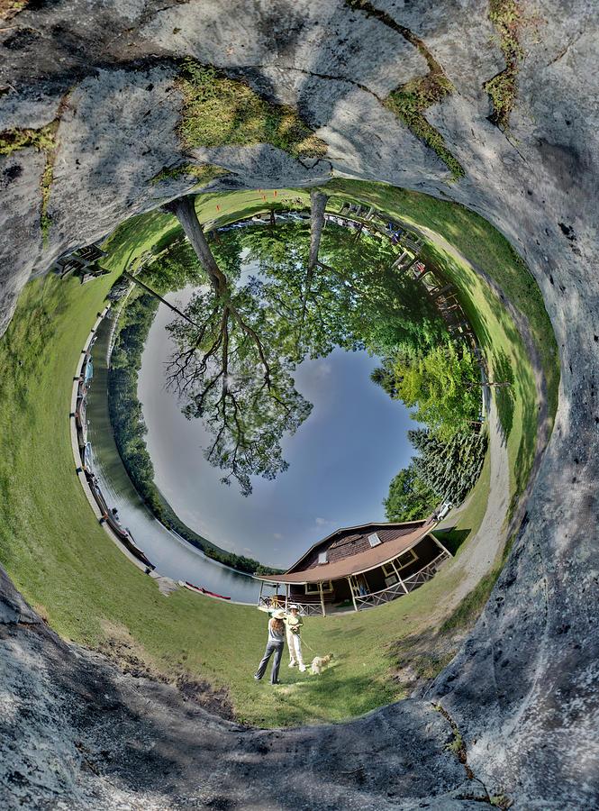 Waterscape Photograph - Lake Rock by Christopher Blake