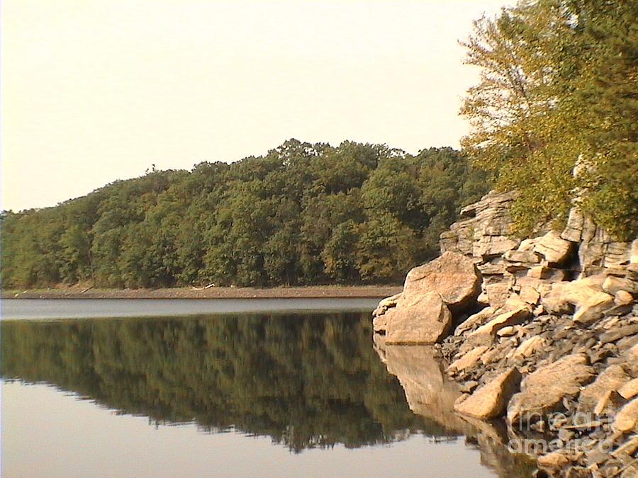 Lake Photograph - Lake Scranton Reflections by Daniel Henning