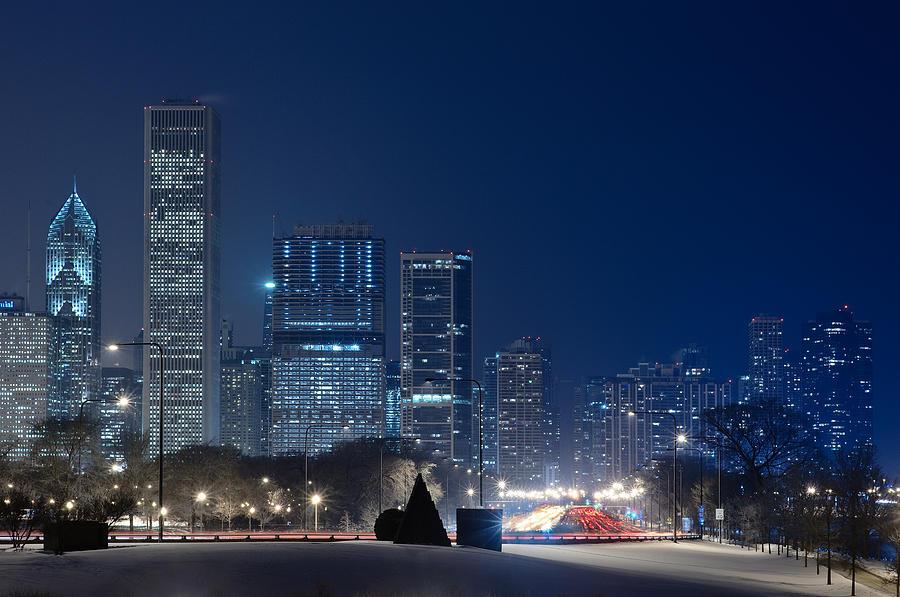 Building Photograph - Lake Shore Drive Chicago by Steve Gadomski