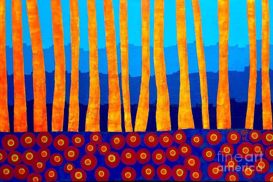 Evening Painting - Lakeside by Wonju Hulse