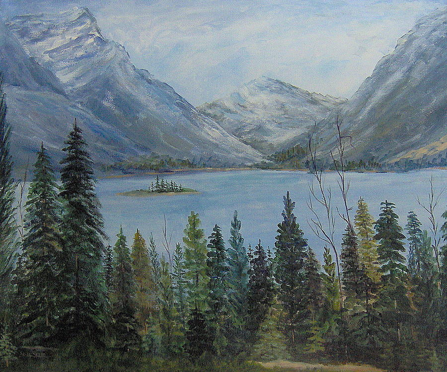 Landscape Painting - Lake St Mary by Lorna Skeie