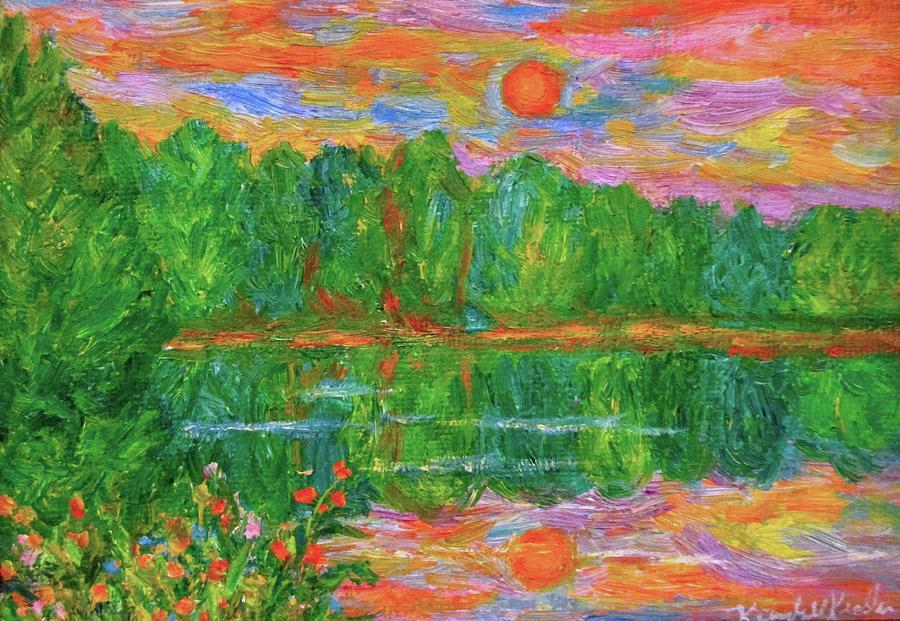 Lake Sunset Painting - Lake Sunset by Kendall Kessler