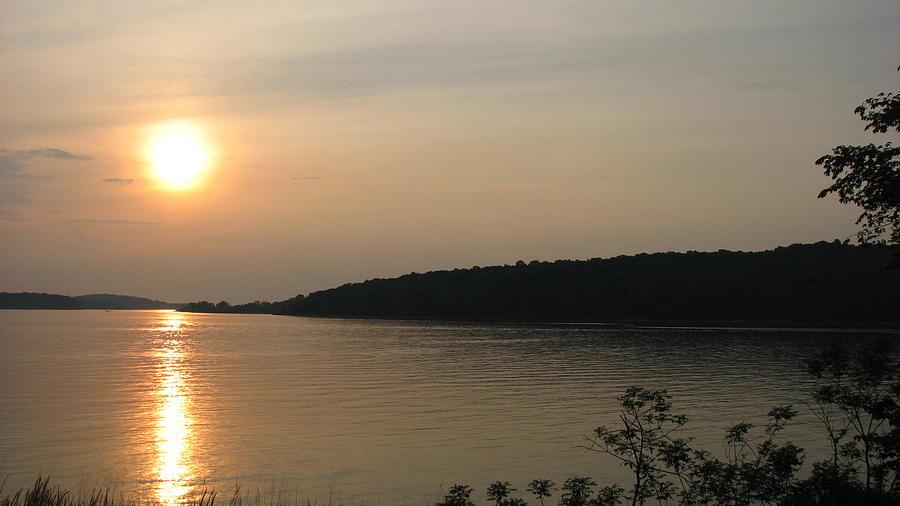 Sunset Photograph - Lake Sunset by Shigeo Akiyama