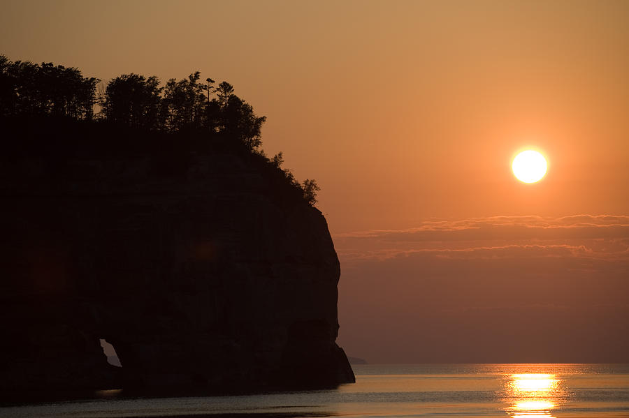 Lake Photograph - Lake Superior Sunset by Sebastian Musial