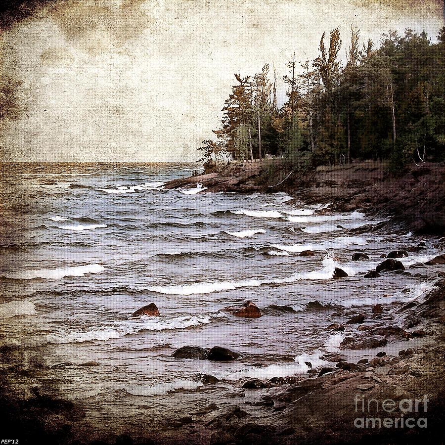Lake Photograph - Lake Superior Waves by Phil Perkins