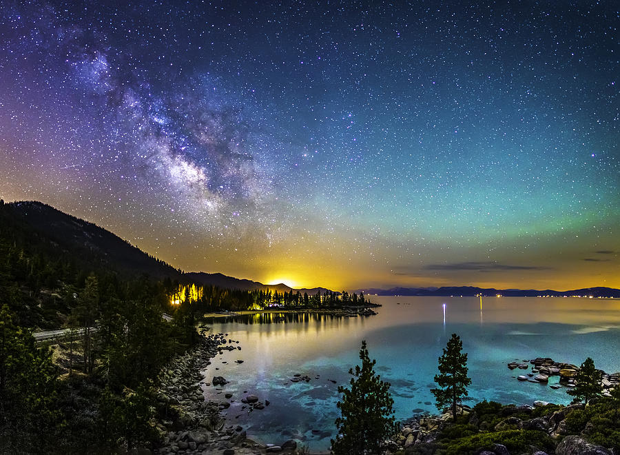 Astrophotography Photograph - Lake Tahoe Dream by Tony Fuentes