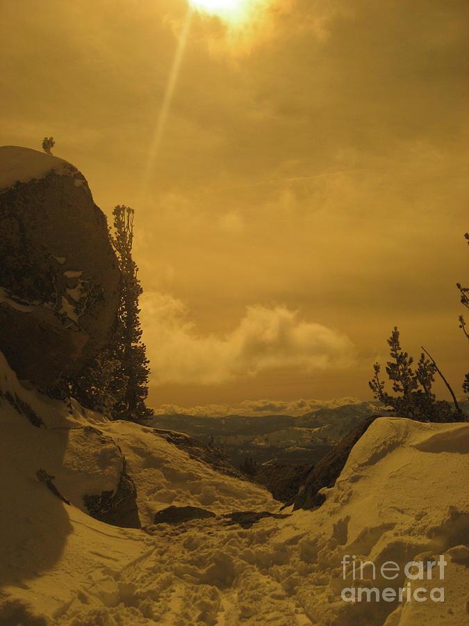 Snow Photograph - Lake Tahoe  by Paula Deutz