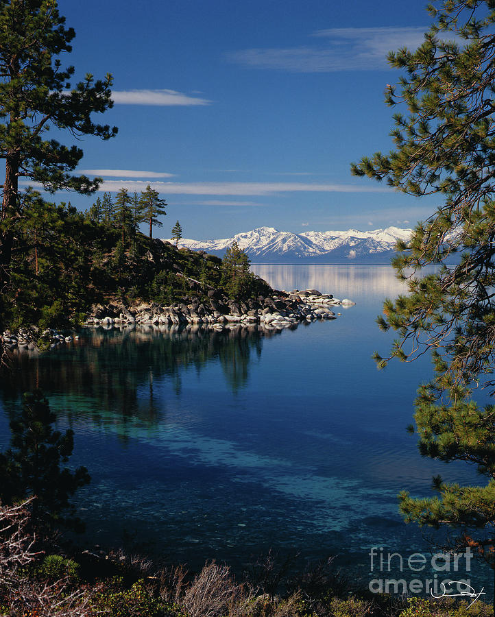 Clear Water Photograph - Lake Tahoe Smooth by Vance Fox