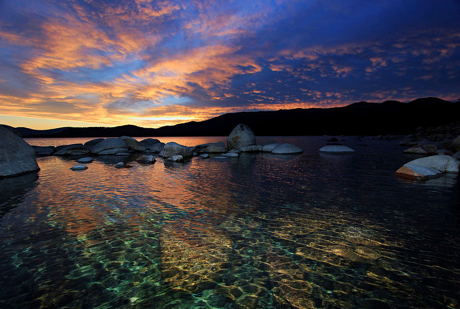 Lake Tahoe Photograph - Lake Tahoe Sundown by Sean Sarsfield