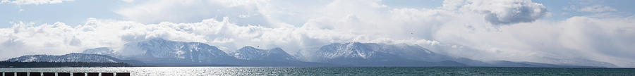 Snow Photograph - Large Image Of Lake Tahoe Winter by Digiblocks Photography