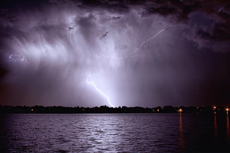 Lightning Photograph - Lake Thunderstorm by James BO  Insogna