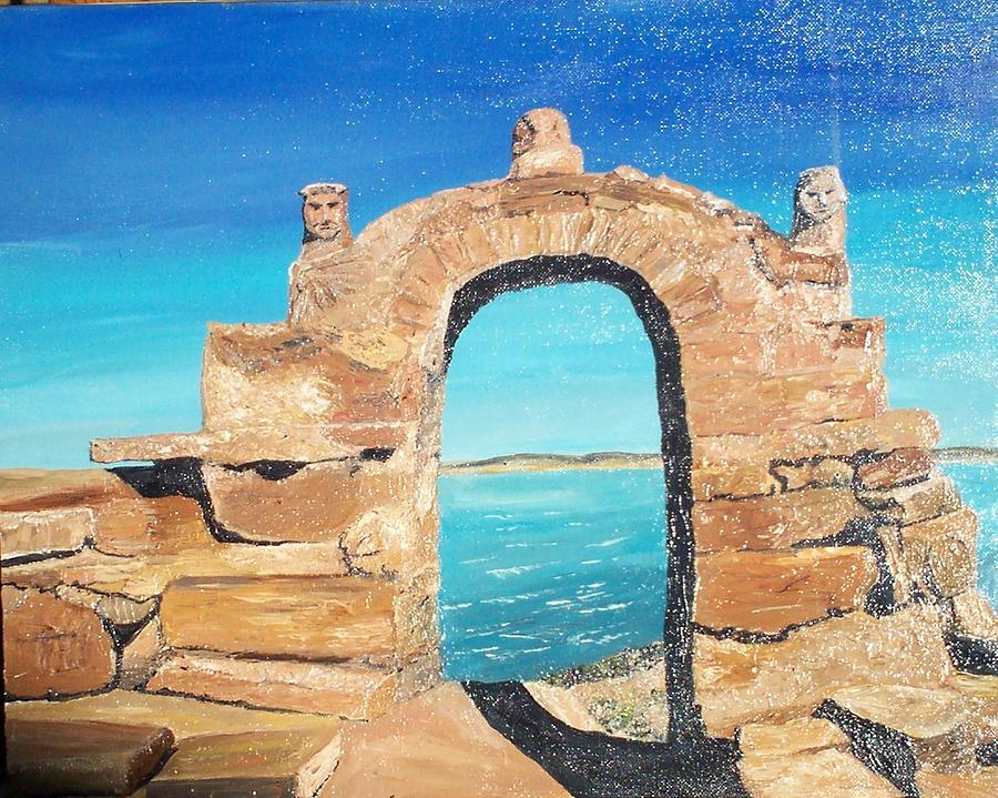 Lake Titicaca Painting - Lake Titicaca Peru by Tracey Mitchell