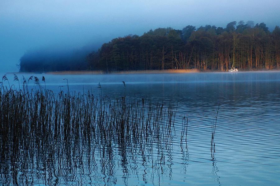 Lake Photograph - Lake View At Dawn by Katarzyna Horwat