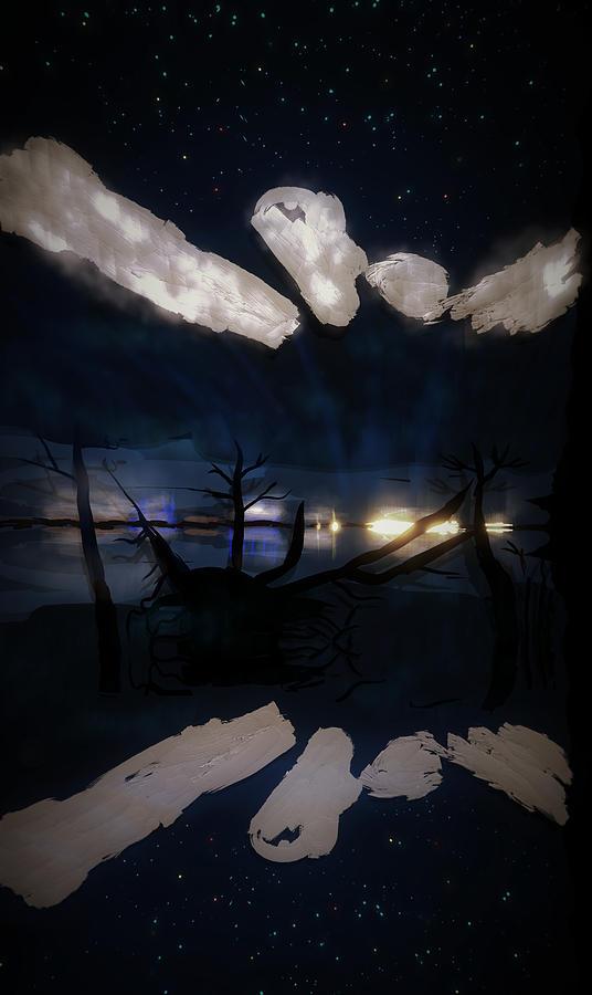 Lake Digital Art - Lake View by Kab