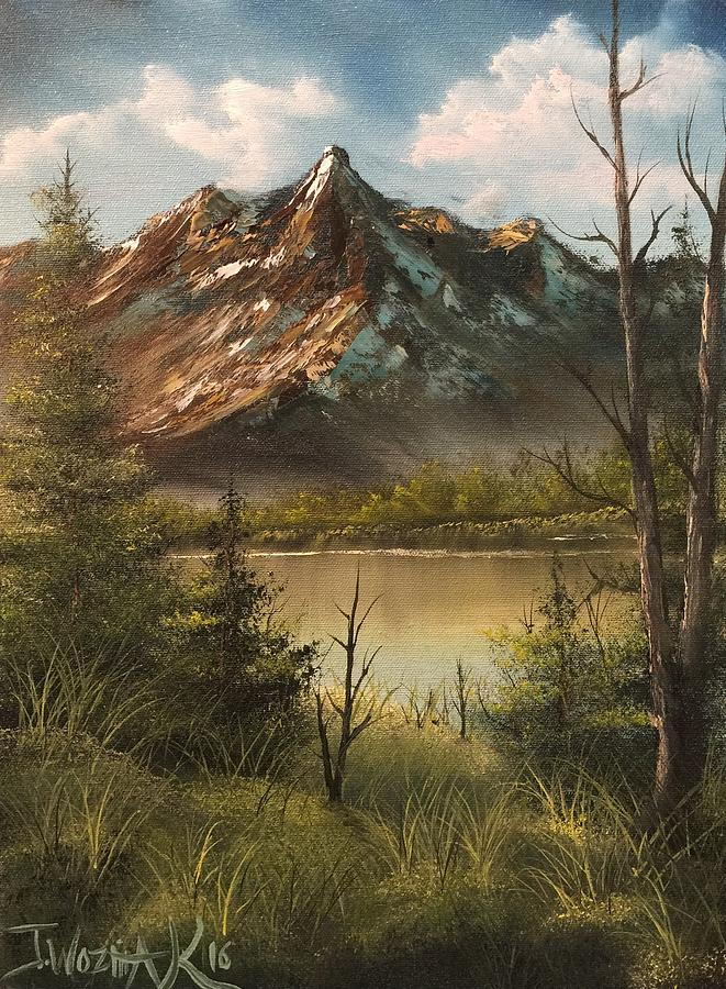 Lake view mountain  by Justin Wozniak