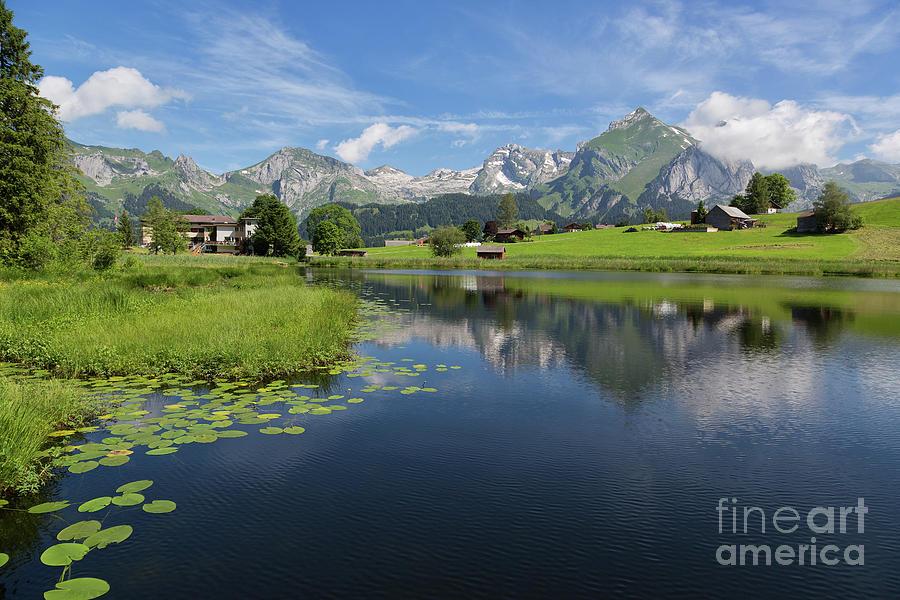 Lake Photograph - Lake Vorderer Schwendisee by Yair Karelic