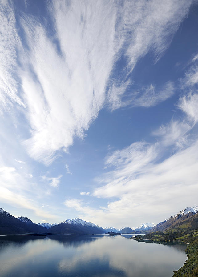 Landscape Photograph - Lake Wakatipu Sky by Barry Culling