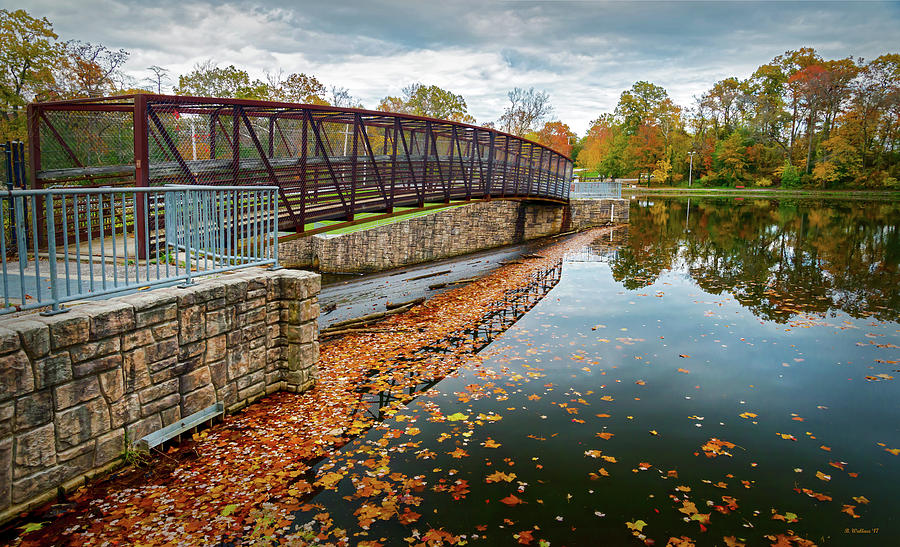 2d Photograph - Lake Waterford Fall Waterscape by Brian Wallace
