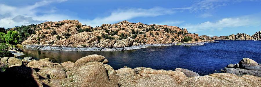 Water Photograph - Lake Watson At The Dells 1 - Prescott, Arizona by John Trommer