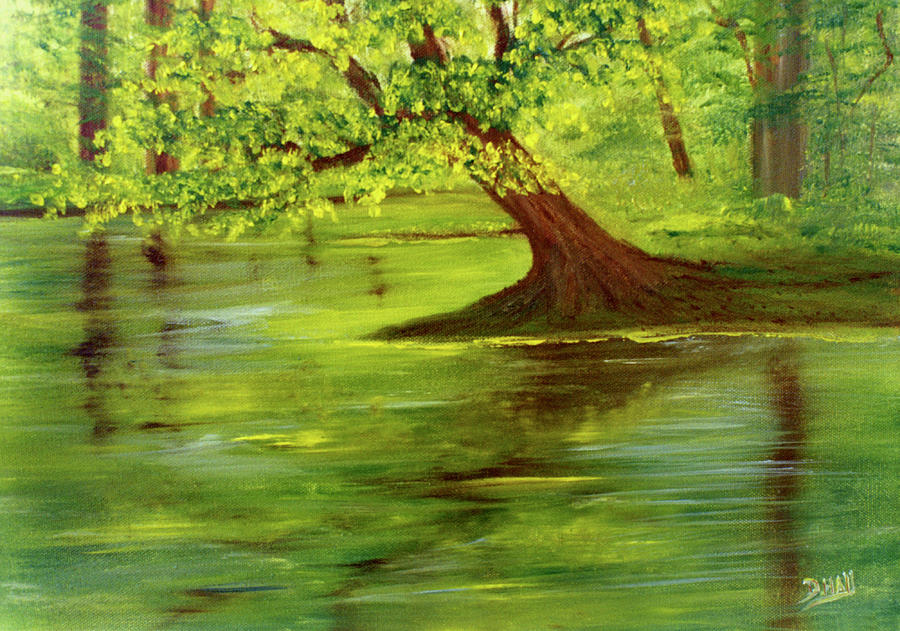Lake Wilson Painting - Lake Wilson Hawaii #35 by Donald k Hall