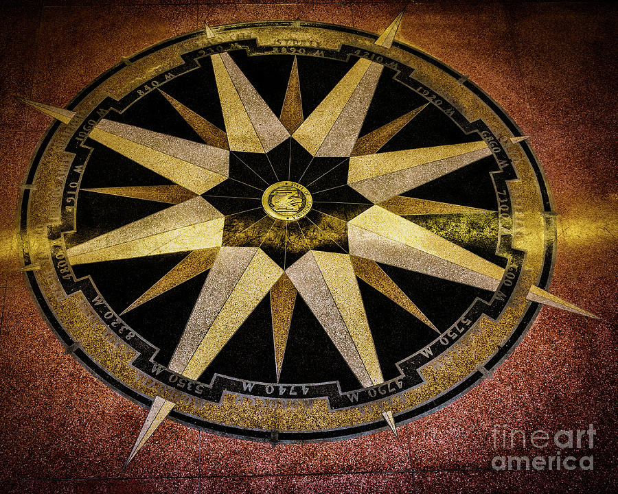 Lakefront Airport Compass To The World Photograph