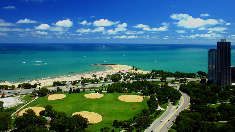 Lakefront Beach Park Baseball Fields by Patrick Malon