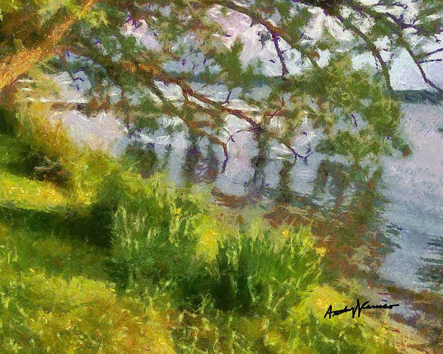 Lake Painting - Lakeshore by Anthony Caruso